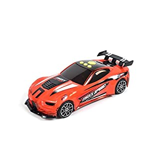 Sunny Days Entertainment Race Car – Lights and Sounds Racing Toy with Motorized Drive   Light Up Sports Toys Vehicle Gift for Kids   Color May Vary – Maxx Action, Multi