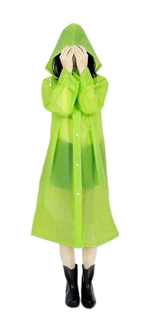 ColorRain Portatile Impermeabile Poncho Cappotto da Pioggia con Cappuccio e Maniche