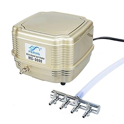 Pawfly Commercial Air Pump Quiet Oxygen Pump for Aquarium Pond, 4 Outlets, 8 W, 16 L/min