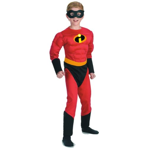 Disney The Incredibles Dash Classic Muscle Boys Costume, Small/4-6 (Muscle Arms Halloween Costume)