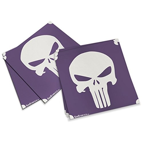 Punisher Stencils for Guns, Magazines and Accessories - 5 Pack -