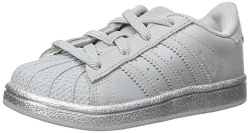 adidas Originals Kinder Superstar Sneaker (großes Kind / kleines Kind / Kleinkind / Kleinkind) Clonix, Clonix, Silvmt