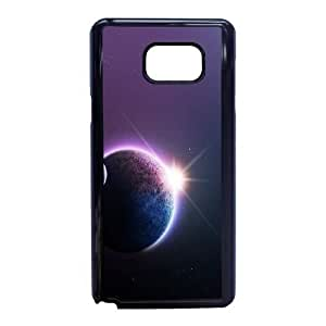 Gvwfe Unique Phone Cases Samsung Galaxy Note 5 Cell Phone Case Black art stars moon planet space Plastic Durable Cover