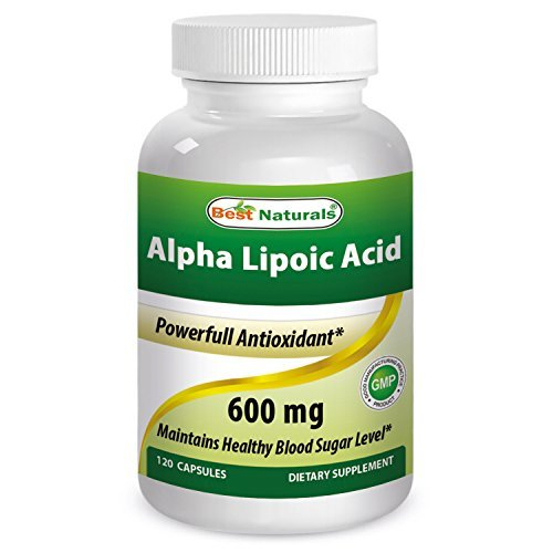 Best Naturals Alpha Lipoic Acid 600 mg Capsules, 120 Count by Best Naturals