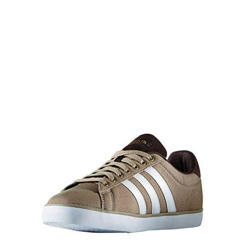 adidas Derby Vulc, Zapatillas de Skateboarding para Hombre Blanco / Dorado (Stcaqp / Ftwbla / Dormat)