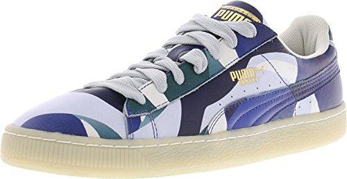 Puma Women's X Careaux Basket Graphic Twilight Blue/Halogen Blue Athletic Shoe (8.5, Twilight Blue/Halogen Blue) by PUMA