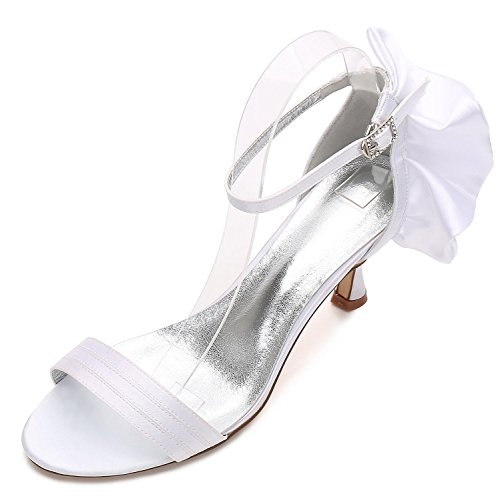 Low White Heel Custom Ribbon Office Wedding 17061 Women Prom L Summer Shoes Made 8 Bridesmaid YC fZUSwqx8