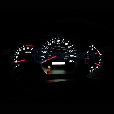 Jtech 10x T10 8-SMD White LED Car Lights Bulb Interior, Instrument Cluster, License Light W5W, 147, 152, 158, 159, 161, 168, 184, 192, 193, 194 2825: Automotive