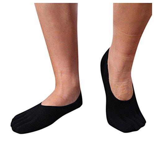 Mens Toe Five Finger Socks, Inkach Stylish Men Cotton Finger Socks Breathable Running Socks Lightweight No-show Socks A