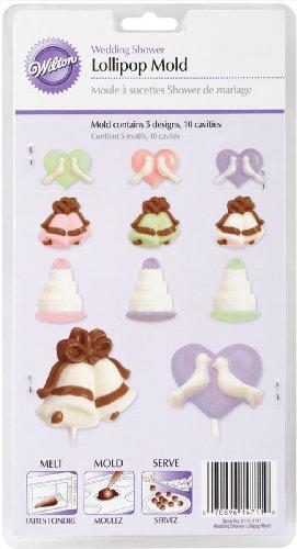Wedding Lollipop - Wilton 2115-1711 Lollipop Mold, Wedding Shower 10 Cavities/5 Designs