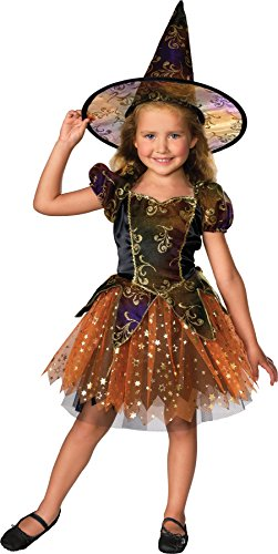 UHC Girl's Elegant Witch Toddler Fancy Dress Magical Theme Halloween Costume, 2T-4T