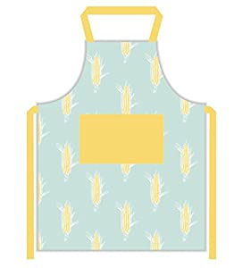 Apron 100 % Cotton ( 27.5 x 33 Inches ) with Front Divided Pocket, Adjustable neck and waist ties, Machine Washable By CASA DECORS