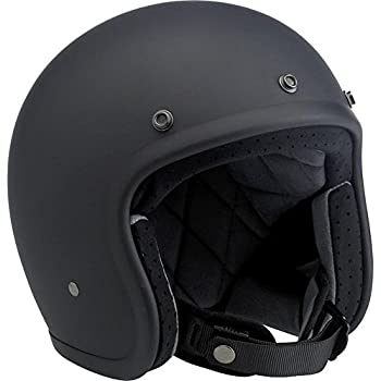 Biltwell Inc. Bonanza Flat Black Open Face Helmet X-Large
