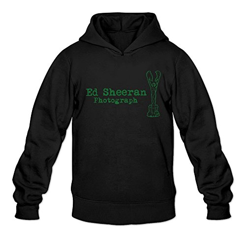 Ed Sheeran Photograph Hoodies Sweatshirt Black For Men