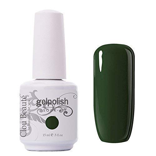 Clou Beaute Gelpolish 15ml Soak Off UV Led Gel Polish Lacquer Nail Art Manicure Varnish Color Army Green 1436