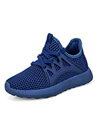 Troadlop Kids Sneakers Ultra Breathable Lightweight Mesh Running Tennis Shoes for Boys Girls