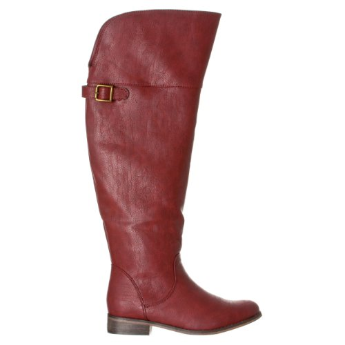Women's Riding 'Rider Red Buckle Round Toe Breckelle's Boots 24' axSdqZSw