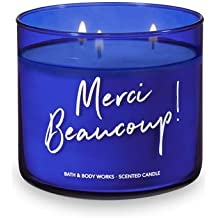 "Bath and Body Works 3 Wick ""Merci Beaucoup"" Scented Candle Capri Citron 14.5 Ounce"