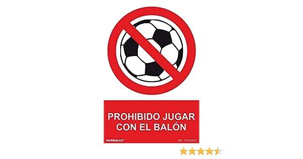 NM RD40065 - Señal Prohibido Jugar Con El Balon PVC Glasspack 0,7 ...