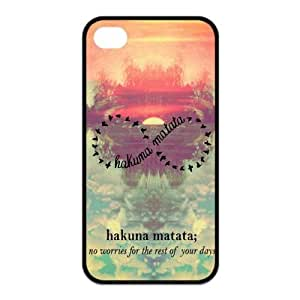 iPhone 6 4.7 Case, Hakuna Matata Infinite Hard TPU Rubber Snap-on Case for iPhone 6 4.7