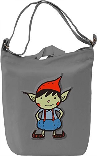 Cute Little Elf Borsa Giornaliera Canvas Canvas Day Bag| 100% Premium Cotton Canvas| DTG Printing|