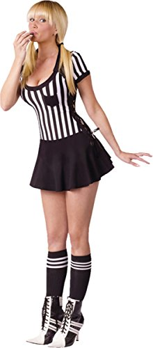 [Morris Costumes Racy Referee Adult 10-14] (Woman Referee Costume)