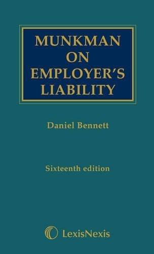 Munkman on employer's liability by Daniel Bennett (2013-09-30) pdf epub