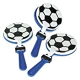 Lot of 12 Soccer Clappers Party Favors Game Noisemaker Clacker