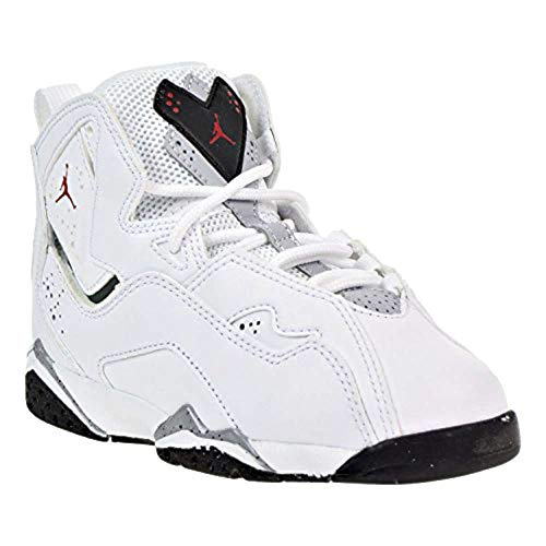Jordan Mens True Flight Hight Top Lace Up Basketball Shoes, White, Size 10.5