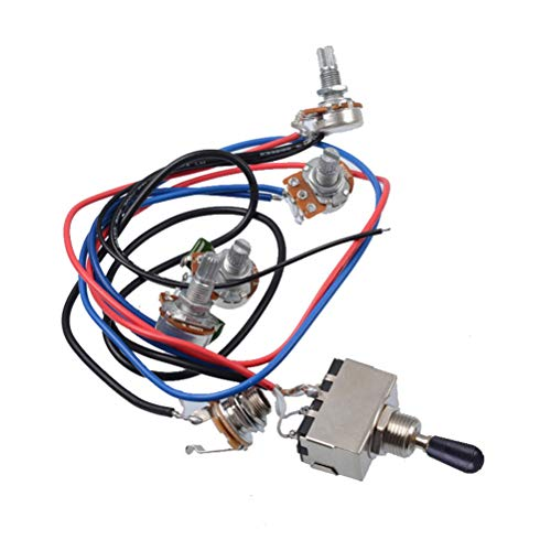 Guitar Wiring Harness Accessories Electric Guitar Wiring Harness Kit Toggle Switch (Black): Amazon.co.uk: Musical Instruments