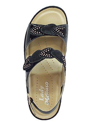 Melluso Women's Fashion Sandals Black lrGWQnwLg