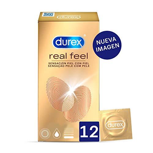 Durex Preservativos Sensitivos Real Feel Sin Latex - 12 condones