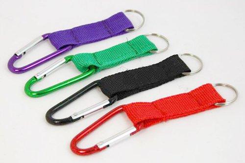 20 x Schlüsselanhänger Karabinerhaken Schlüsselband - Verschiedene Farben