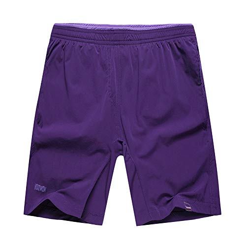 - Hikewin Women's Athletic Running Shorts with Zip Pockets Quick Dry Sports Workout Short Pruple