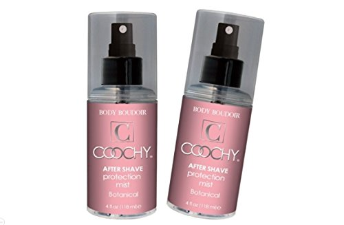 Coochy Water Based After Shave Skin Protection Soothing Mist (Safe for All Body Parts Including Face and Intimate Areas) - Size 4 Oz (Pack of 2)