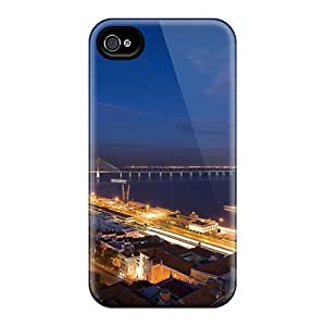 Fashionable Style Case Cover Skin For Iphone 4/4s- Great Harbor Bridge At Night