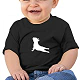 Sfjgbfjs Black Baby French Bulldog Yoga T-Shirt 6M Soft Cozy Infant Short Sleeve Undershirts