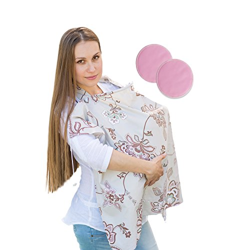 SHaaSHaa bundle Nursing Cover with Nursing Pads