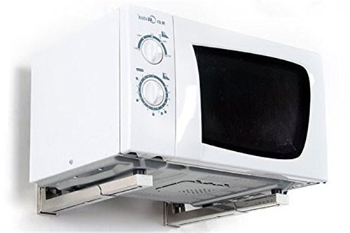Nuevo plegable estante en color blanco accesorio de para horno de microondas soporte de pared