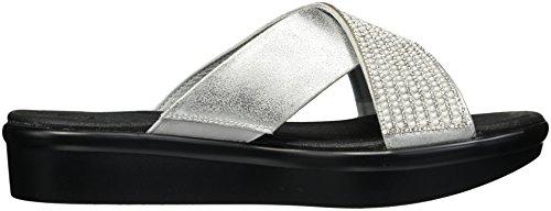 Skechers Women's 38682 Open Toe Sandals Silver (Silver) 54KYA