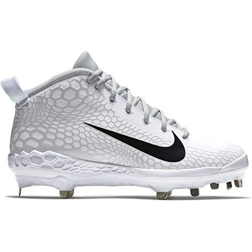 05f18770b6388 Nike Men's Force Zoom Trout 5 Pro Metal Baseball Cleat White/Black/Pure  Platinum Size 10.5 M US