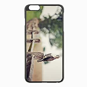 iPhone 6 Plus Black Hardshell Case 5.5inch - fence falcon bokeh eagle Desin Images Protector Back Cover