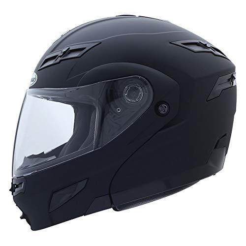 Gmax GM54S Modular Men's On-Road Motorcycle Helmet - Flat Black/Medium - Modular Helmet Flat