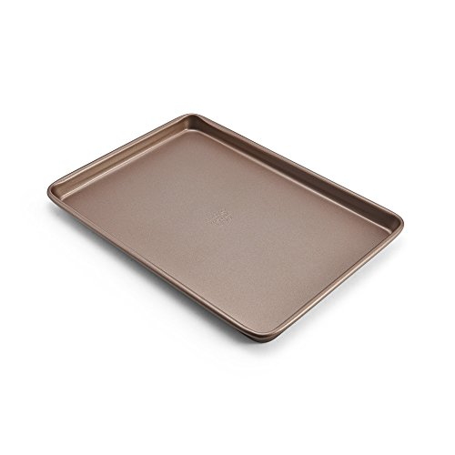 Chicago Metallic 5212095 Elite Non-Stick Carbon Steel Small Cooking/Baking Sheet, 13 9.5-Inch, Bronze