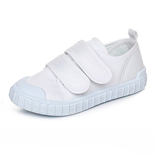 Maxu Little Kids White Canvas Slip on Sneakers,Toddler,6.5M by Cixi Maxu E-Commerce.Co.Ltd