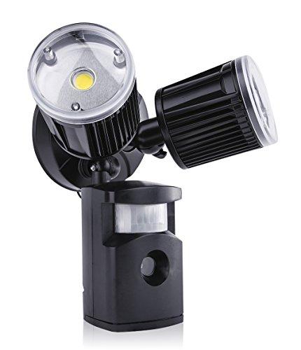 Sleeklighting 14w Led Security Sensor Motion Twin Light With Camera Recorder Audio Light Sensor Motion Activated