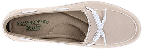 Grasshoppers Women's Windham Slip-On, Stone, 8.5 W US by Grasshoppers (Image #8)