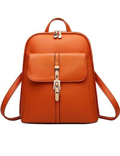 Menschwear Moda Mujer Chica funda mochila escolar bolsa Diamante Azul Naranja
