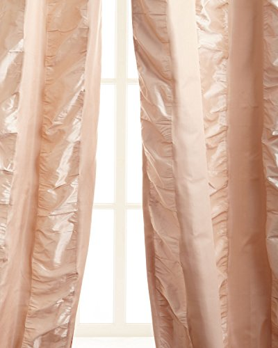 Kendall 100% Silk with puckered tonal Stripe Drape (108