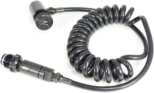 Ninja Paintball Remote Hose Coiled with Push To Connect Coupler by Ninja